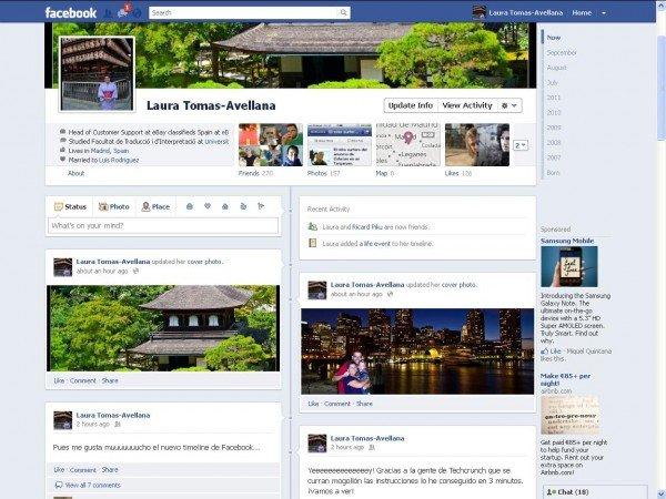 Nuevo timeline de Facebook (F8)