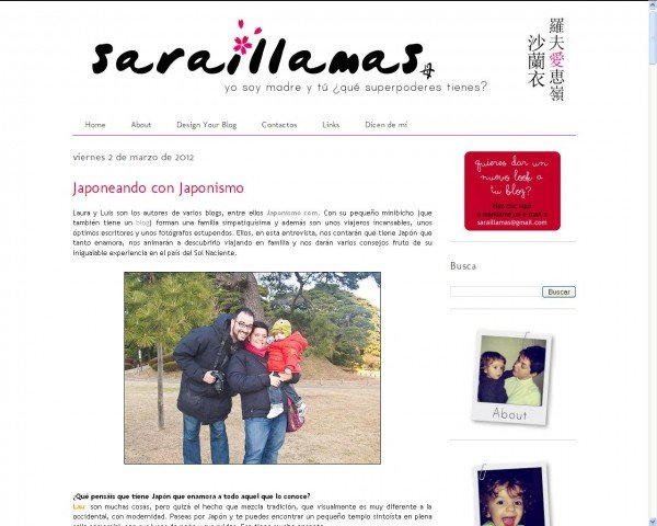 Japonismo entrevistado en el blog de Sarai Llamas